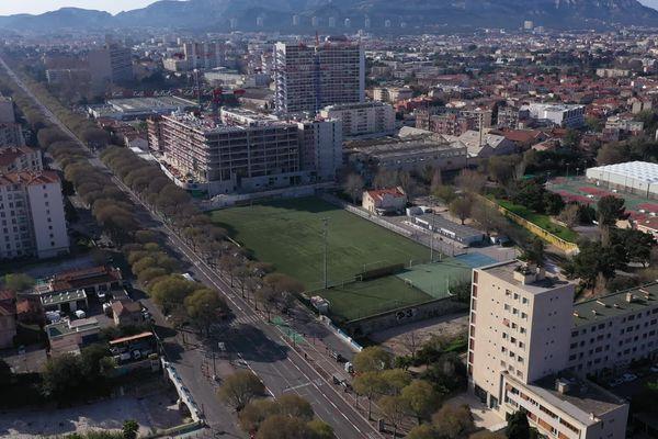 20/03/2020. Marseille (Bouches-du-Rhône), le boulevard Michelet, d'ordinaire saturé par la circulation automobile, déserté lors de l'épidémie de coronavirus.