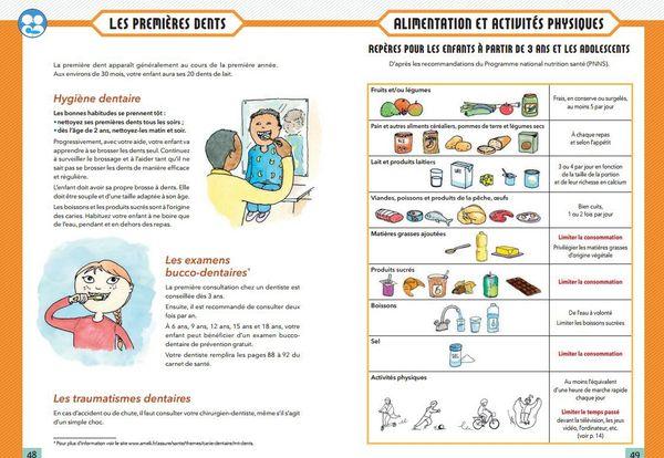 Le carnet de santé contient de nombreux conseils adressés aux parents
