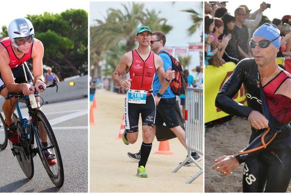 Franck Champagne, lors de l'Ironman de Barcelone en 2017