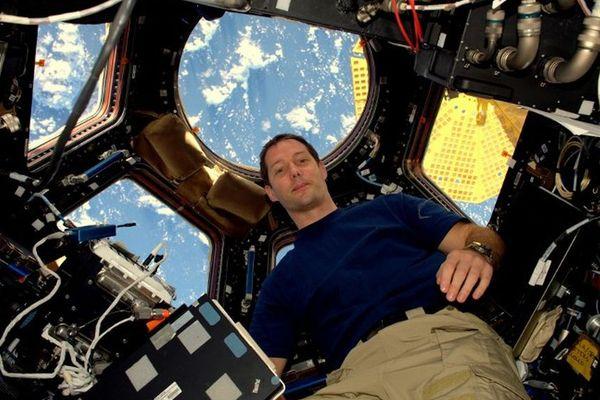 L'astronaute français Thomas Pesquet dans la la Station Spatiale Internationale
