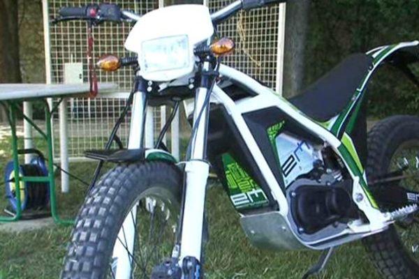 Une moto du constructeur héraultais Electric motion.