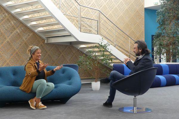 Julie Hattu rencontre Laurent Chrétien, directeur du Centre Laval Virtual