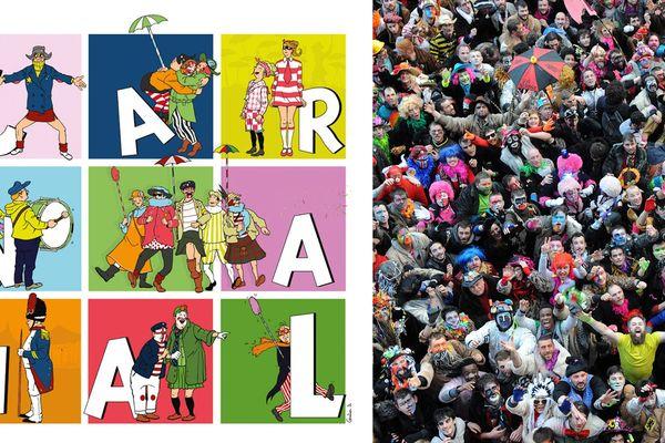 L'affiche 2019 du Carnaval de Dunkerque réalisée par l'illustrateur Gautier Ds.