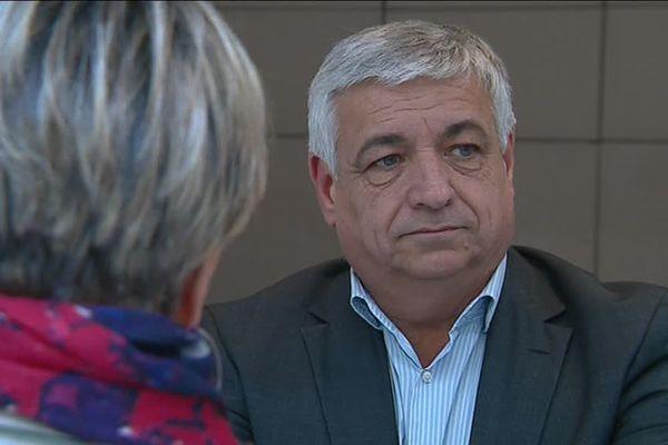 Didier Brémond, victime d'une violente agression en pleine campagne électorale le 16 février 2014.