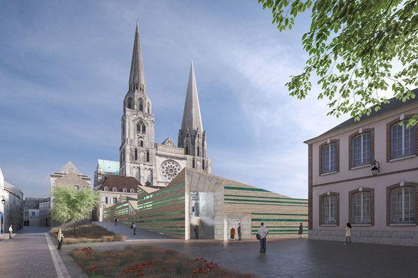 Image de présentation du projet d'aménagement du cloître de la cathédrale Notre-Dame de Chartres.