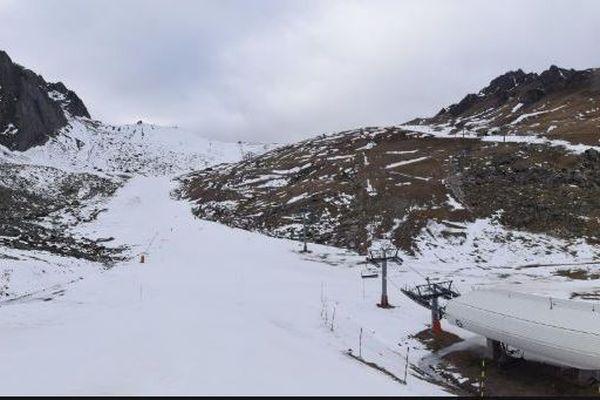 La situation d'enneigement à 1800m (La Mongie Tourmalet le 8 janvier 2019)