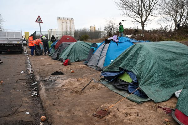 Campement de migrants à Calais - 26/11/2019