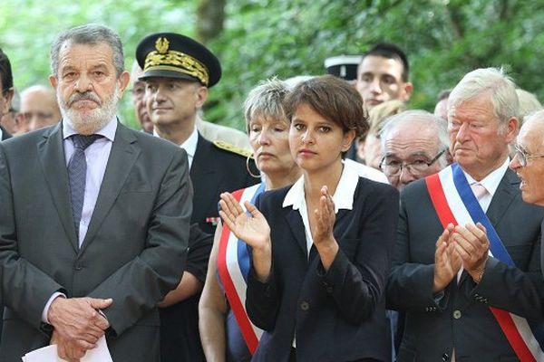 Najat Vallaud-Belkacem durant la cérémonie au bois de Bascaules