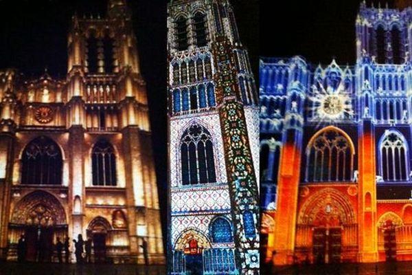 """La cathédrale de Sens, dans l'Yonne, fête ses 850 ans : un spectacle """"son et lumière"""" a été conçu à cette occasion. Il sera présenté pour la première fois samedi 28 juin 2014 lors d'une diffusion sur le site internet de France 3 Bourgogne à 22h 15"""
