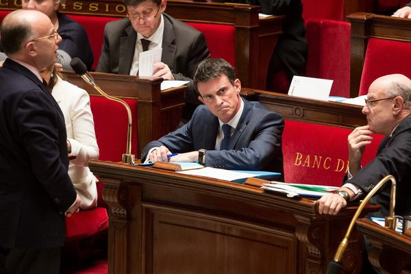Bernard Cazeneuve, à l'Assemblée Nationale