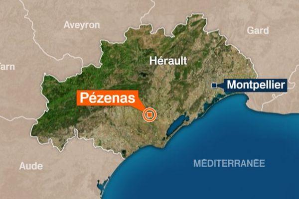 Carte Pézenas (Hérault)