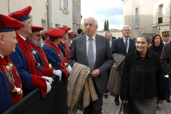 Simone Veil à l'occasion des obsèques de René Monory à Poitiers en 2009
