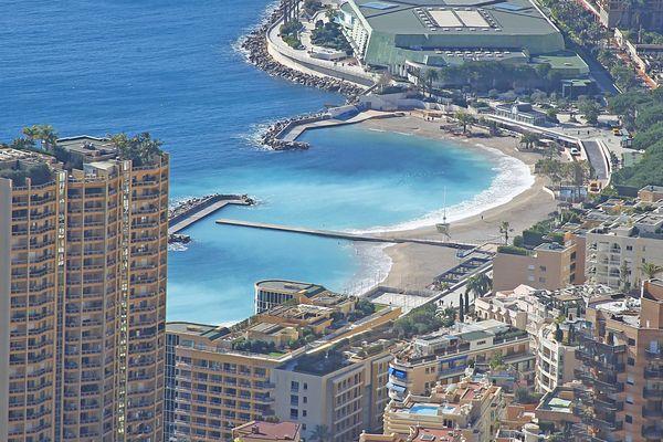 La plage du Larvotto vue du ciel (Archives)