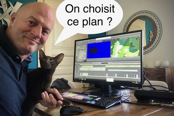 Cette semaine, c'est Choco qui vient contrôler le montage de Lionel (Insta : Oneschoco) #regardamoureux
