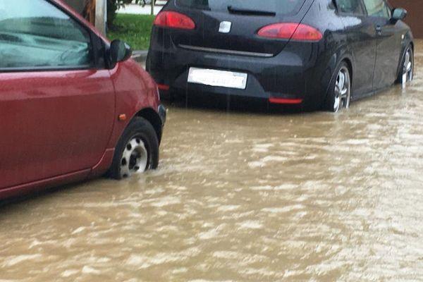 Comme sur cette photo prise à Hegenheim en juillet 2021, six communes du Bas-Rhin ont subi des inondations cet été.