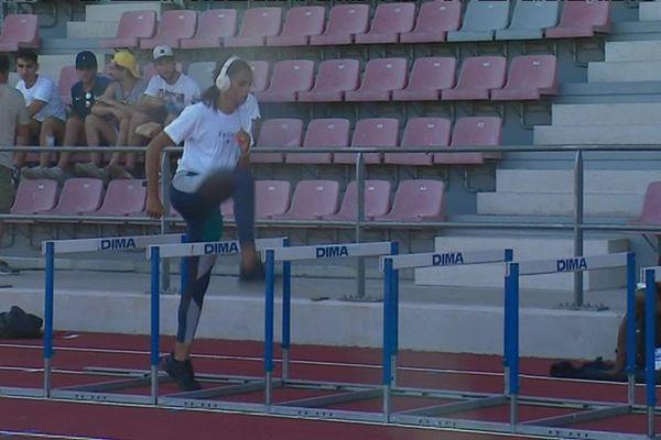 Sydney McLaughlin, hier soir à l'entraînement, avant le meeting d'athlétisme de Marseille