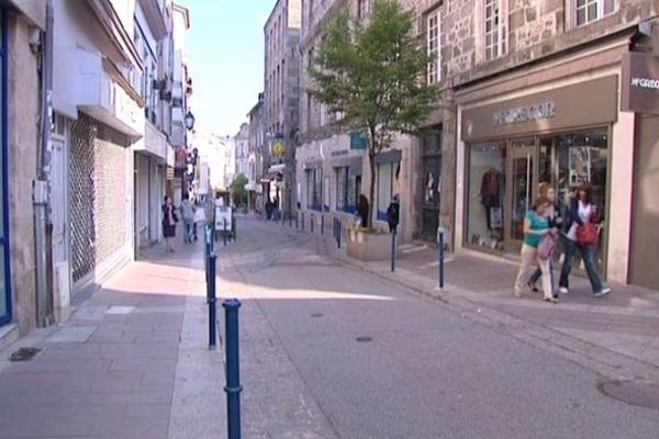 Rue du centre-ville de Limoges
