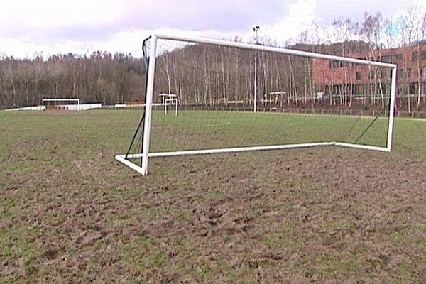 Le terrain de football de Pavilly vendredi 21 février
