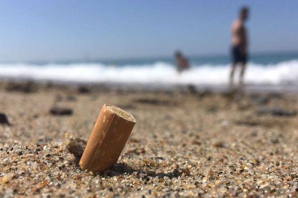 A Agon-Coutainville dans la Manche, plage branchée de la Manche, il est désormais interdit de fumer, sinon c'est contravention !