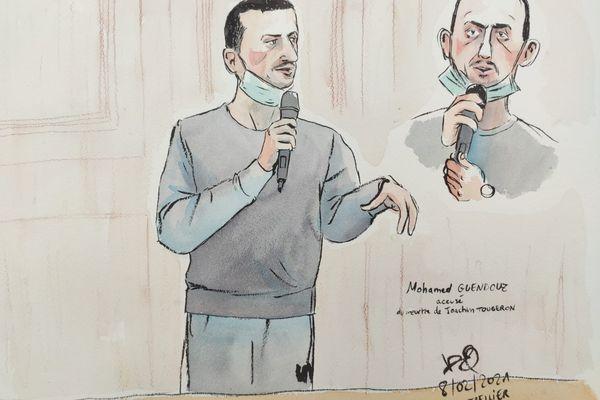Montpellier - Mohamed Guendouz accusé du meurtre de Joaquim, devant les Assises de l'Hérault. - 8 février 2021.