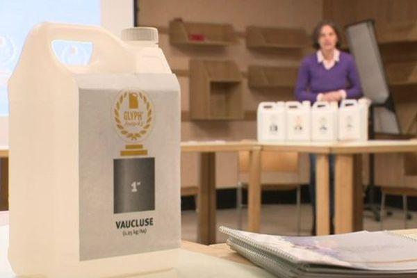 Le Glyph'awards d'or va être remis à la Chambre d'Agriculture de Vaucluse pour sa première place au classement de l'utilisation de pesticides à l'hectare