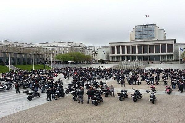 Les motards sont partis de Brest ce matin et rallieront Quimper à 14h30
