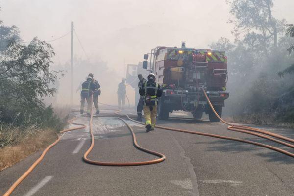 Générargues - Au total 250 pompiers ont été mobilisés pour maîtriser ce violent incendie - 19.07.20