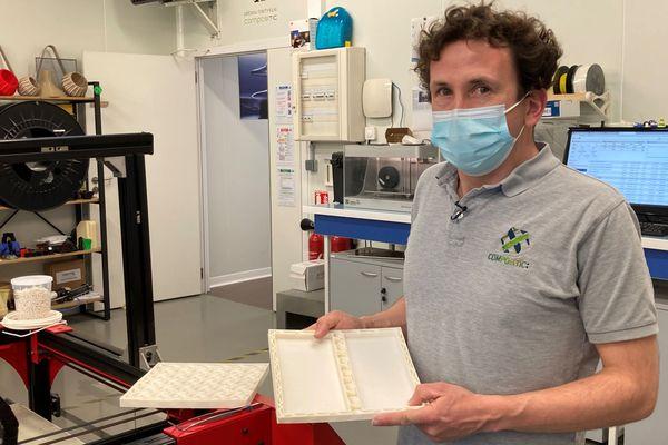 Yves-Marie Corre présente son emballage innovant qui va partir dans l'espace avec Thomas Pesquet
