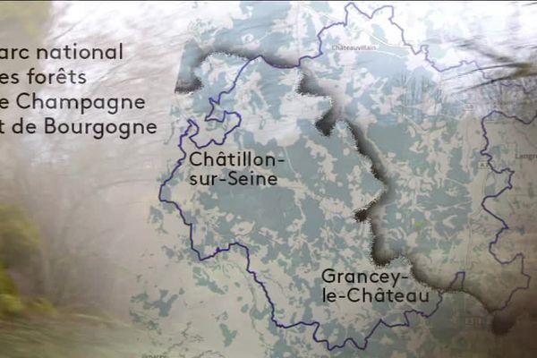 Les contours du projet de parc national.