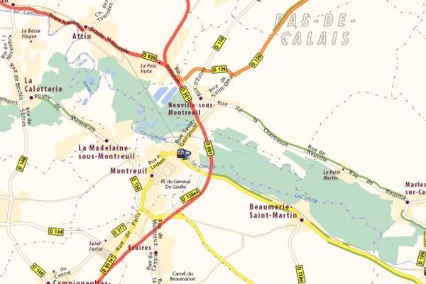Les fortes précipitations ont provoqué l'ouverture d'une brèche dans une digue à Neuville-sous-Montreuil dans la nuit de jeudi à vendredi. Le bas de la commune a été inondé.