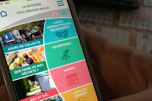 Moins jeter et mieux trier avec l'application Sicovad qui répertorie toutes les informations utiles.