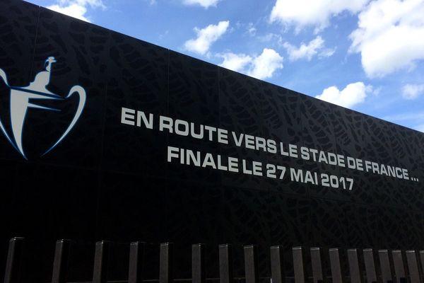 Le stade Raymond Kopa se prépare pour la finale de la coupe de France entre Angers SCO et PSG