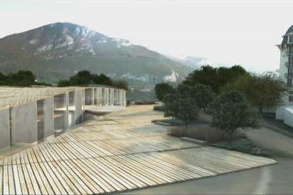 Image de synthèse du futur Centre des congrès d'Annecy