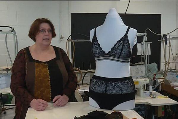 """Véronique Nicolas a lancé à Ploemeur sa marque """"L'audacieuse lingerie""""."""