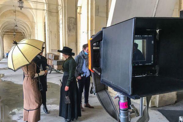 """Tournage du nouveau long-métrage d'Aurélia Georges """"La place d'une autre"""", à Nancy."""