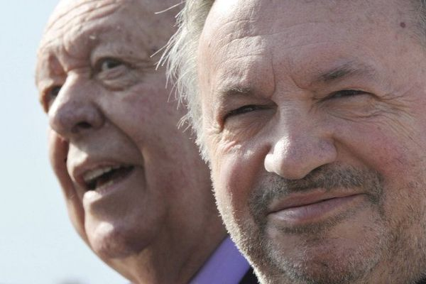 Jean-Noël Guérini est accusé par Patrick Mennucci de faire la campagne pour Jean-Claude Gaudin (photo du 2 mars 2013).