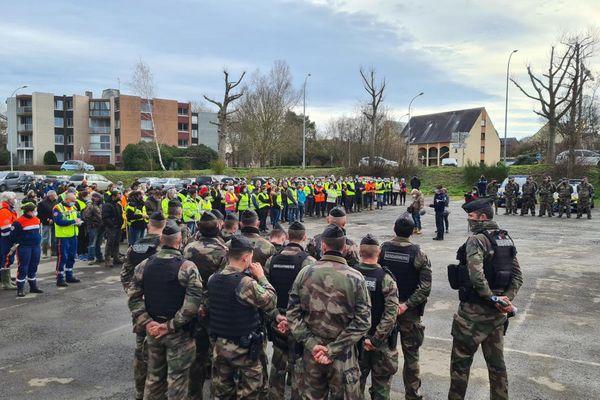 La battue de ce 19 février 2021 pour rechercher Magali Blandin, disparue à Montfort-sur-Meu