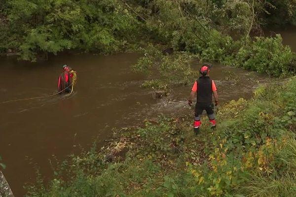 Lozère - Des peupliers sont abattus en bordure du Lot - octobre 2019