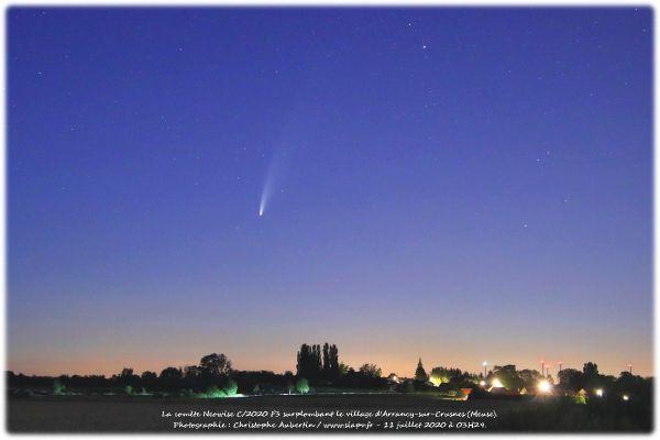 La comète au-dessus d'Arrancy-sur-Crusnes