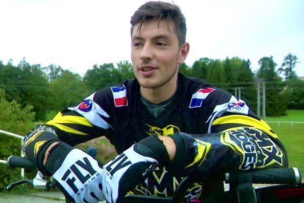 Matéo Faye, lors d'un entraînement à Limoges