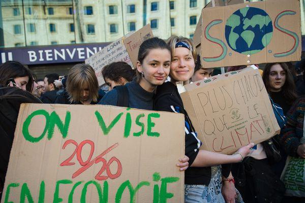 Photo d'illustration d'une manifestation pour le climat.