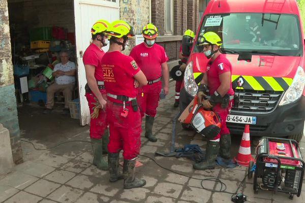 Le GIPS au secours des sinistrés à Trooz en Belgique