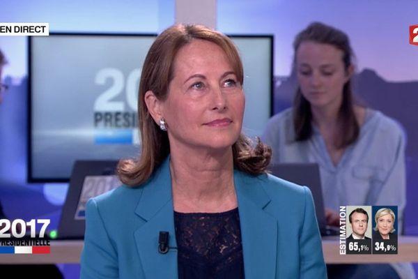 Ségolène Royal sur le plateau de France 2 au soir du 7 mai 2017