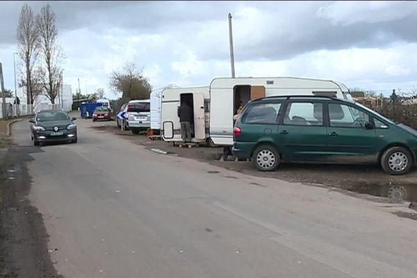 Une dizaine de caravane est revenue s'installer rue de la Gironière, à Sainte-Luce-sur-Loire.