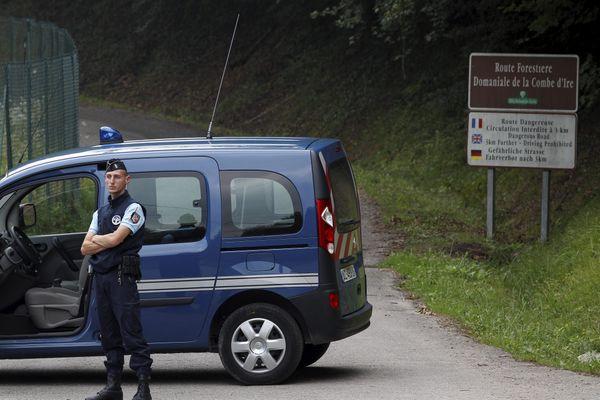 La tuerie de Chevaline a eu lieu sur une route forestière de la Combe d'Ire - septembre 2012
