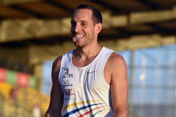Renaud Lavillenie lors des championnats de France Élite à Albi, le 6 juillet 2018.