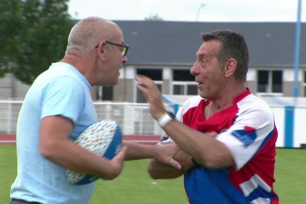 Le rugby, c'est bon pour la santé, surtout si, en plus, on rigole sur le terrain.