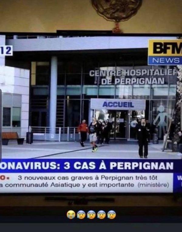 Fausse information et trucage d'une photo de BFMTV.