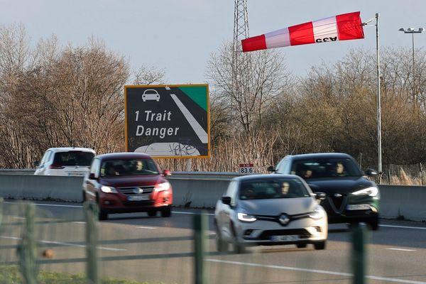 Un épisode de vent violent dans le Haut-Rhin, en mars 2019.