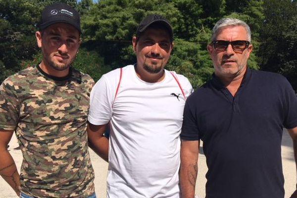 De Gauche à droite : Gino Dubois, Pierre Lucchesi et  Michel Adam de la team Adam